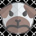 Pug Upset Animal Wildlife Icon