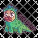 Pug wearing dino dress Icon