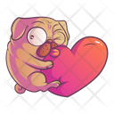 Pug With Heart Icon