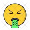 Puke Sick Face Icon