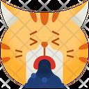 Puke Emoticon Cat Icon