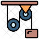 Pulley Mechanics Gearing Icon