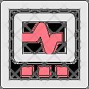 Pulse Monitoring Cardiogram Display Icon