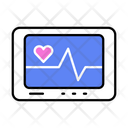 Patient Monitor Heart Health Icon