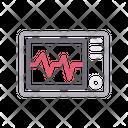 Medical Monitor Pulses Icon