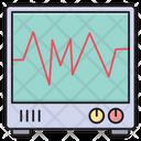 Monitor Pulses Medical Icon
