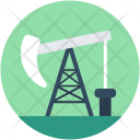 Pumpjack Oil Extraction Icon
