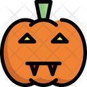 Pumpkin Scary Ghost Icon