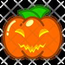 Pumpkin Halloween Food Icon