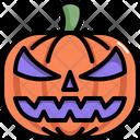 Pumpkin Halloween Scary Icon