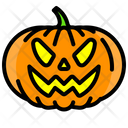 Halloween Vegetable Scary Icon