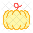 Pumpkin Vegetable Color Icon