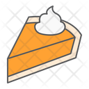 Pumpkin Pie Cake Icon