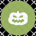 Pumpkin Spooky Skull Icon