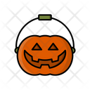 Pumpkin Basket Halloween Pumpkin Halloween Bucket Icon