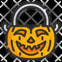 Pumpkin Bucket Icon