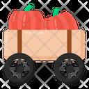 Vegetable Cart Pushcart Pumpkin Pushcart Icon