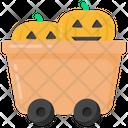 Pumpkins Cart Icon