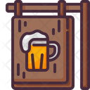 Pun Signbaord Bar Signboard Pub Icon