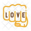 Punch Love Tattoo Icon
