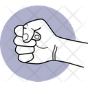 Punching Punch Fingers Action Icon