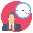 Businessman Clock Project Icon