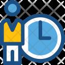 Punctual Deadline Clock Icon