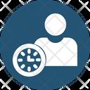 Punctual Man Icon