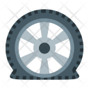 Puncture Tire Flat Icon