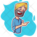 Punjabi Man Laughing Icon