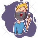 Punjabi Man Shouting Icon