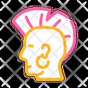 Punk Mohawk Color Icon
