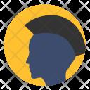 Punk Style Head Icon