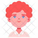 Boy Curlyhair People Icon