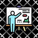 Pupil Presentation Color Icon