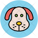 Puppy Face Cartoon Icon