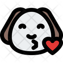 Puppy Blowing A Kiss Icon