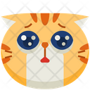 Puppy Eyes Emoticon Cat Icon