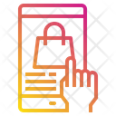 Hand Smartphone Shopping Bag Icon