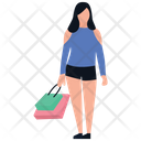 Shopping Girl Leisure Time Buying Icon
