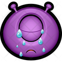 Crying Purple Monster Icon