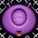 Happy Purple Monster Icon