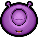 Purple Monster Alien Icon