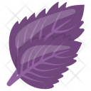 Purple Mustard Leaf Icon