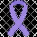 Purple Ribbon Icon