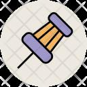 Push Pin Thumbtack Icon
