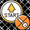 Push Button Start Icon
