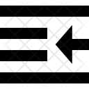 Push Left Text Icon