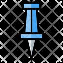 Pin Attachment Push Pin Icon