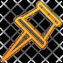 Thumbtack Pin Location Icon